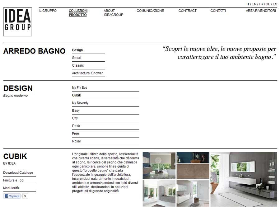 Die neue website ideagroup.it