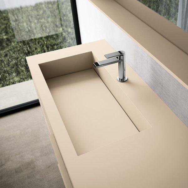 Integriertes Waschbecken aus Fenix