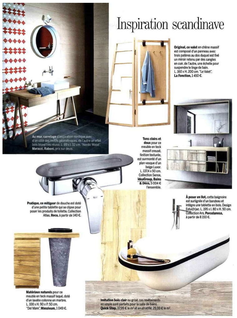 Sense by Aqua in Marie Claire Maison vom November 2015 ...