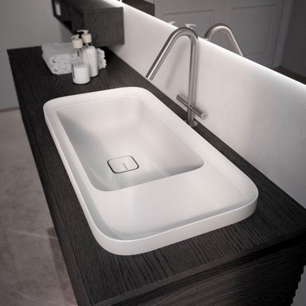 Neues Becken Cameo Keramik Hochglanz oder matt
