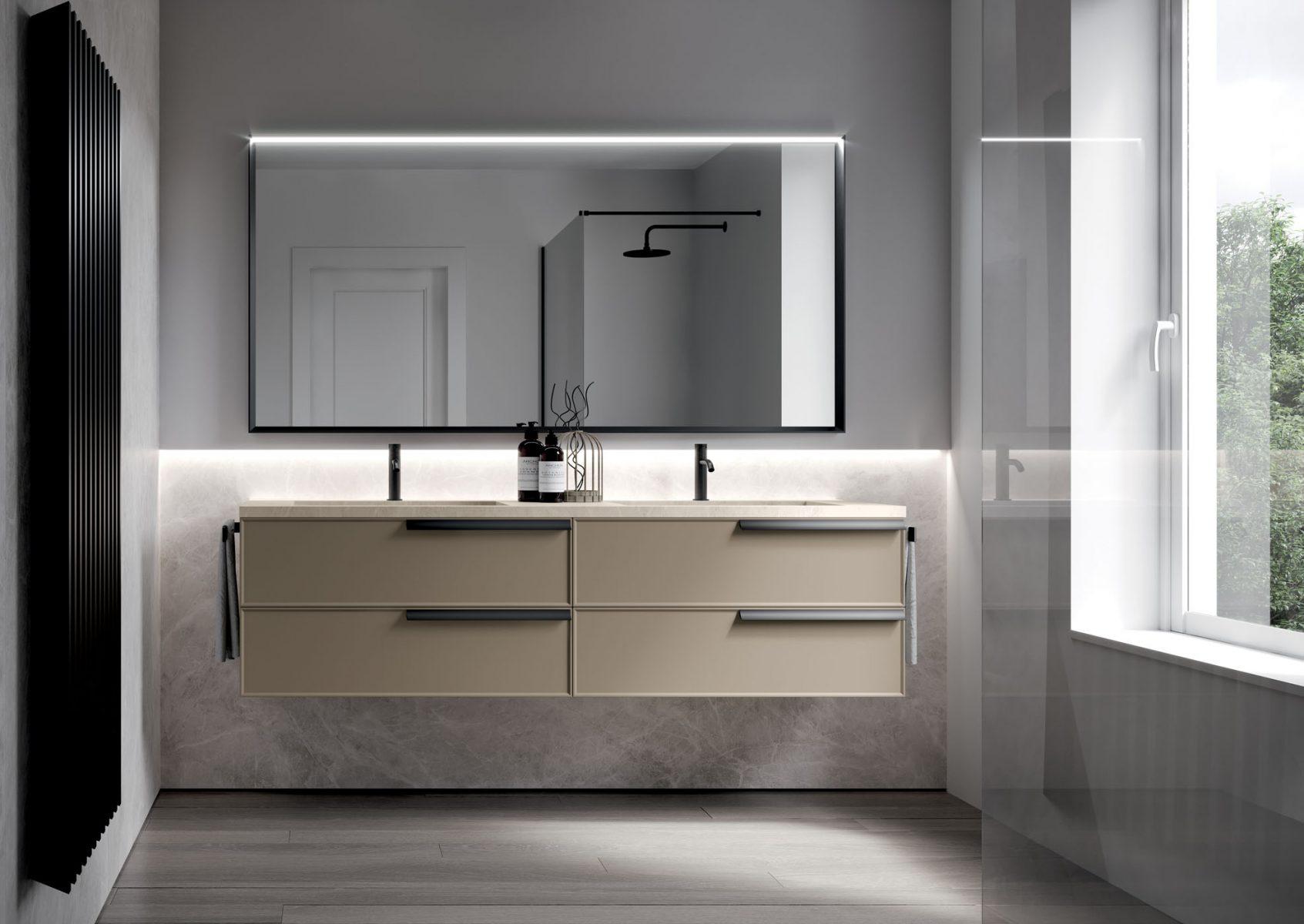 Form: badezimmermöbel in hängeausführung oder auf dem boden