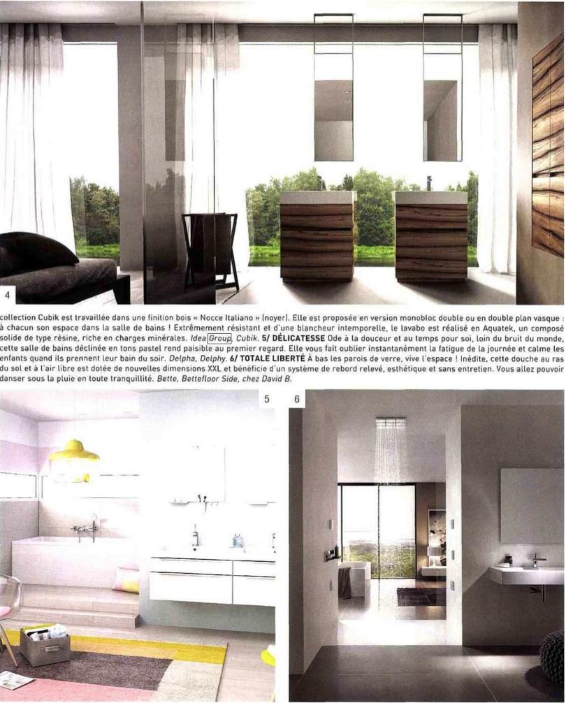 die nat rliche sthetik von cubik in der zeitschrift home cuisines bains ideagroup. Black Bedroom Furniture Sets. Home Design Ideas
