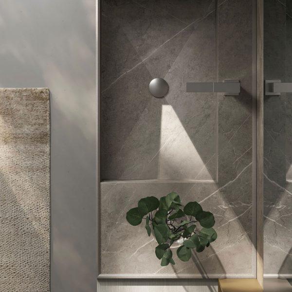 Integriertem Waschbecken aus gres Laminam