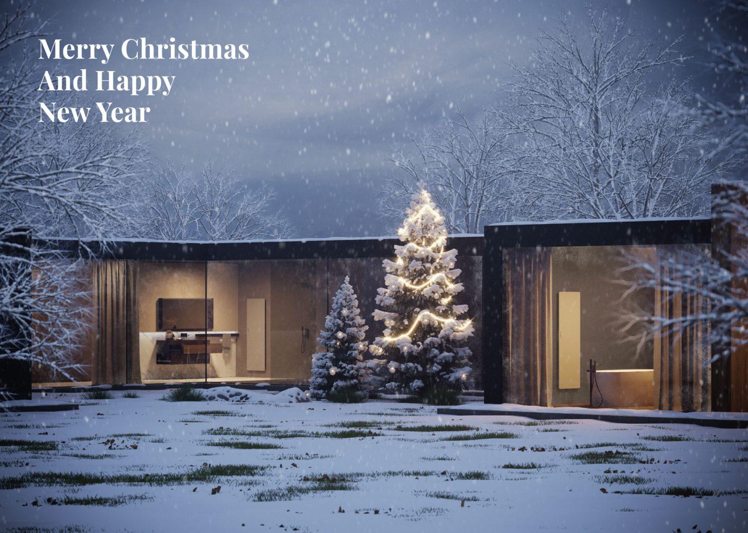 Frohe Weihnachten und glückliches neues Jahr