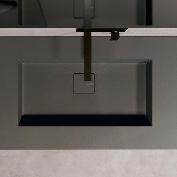 Platte Duplex aus Fenix mit integriertem Waschbecken